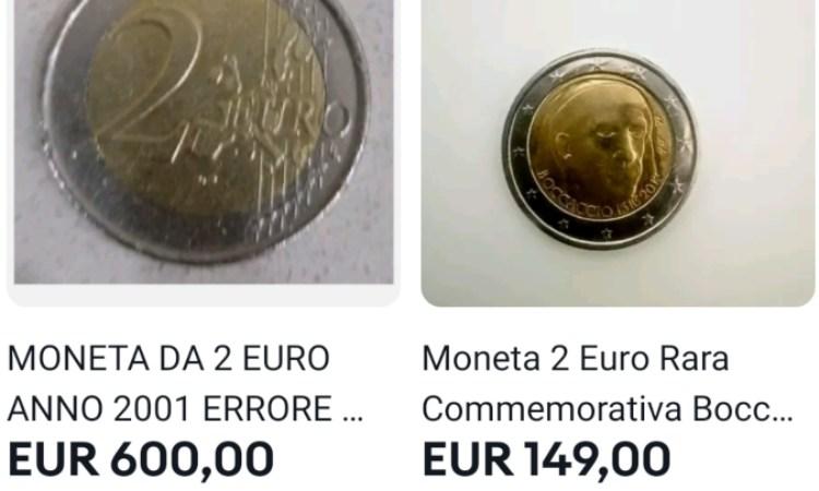 Due monete in vendita su Ebay