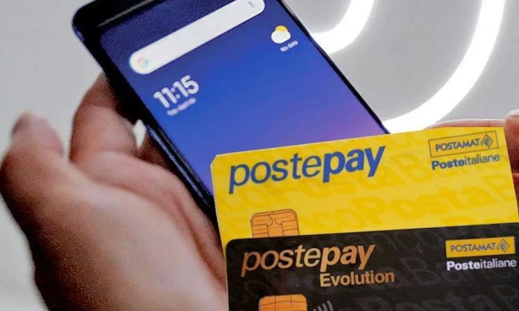 Due tipologie di carte Postpay e un telefono cellulare