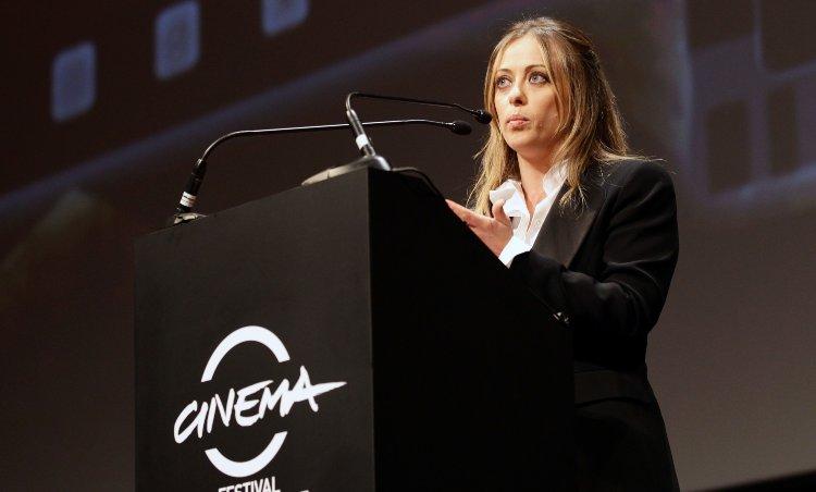 Giorgia Meloni durante il Festival Internazionale del cinema di Roma