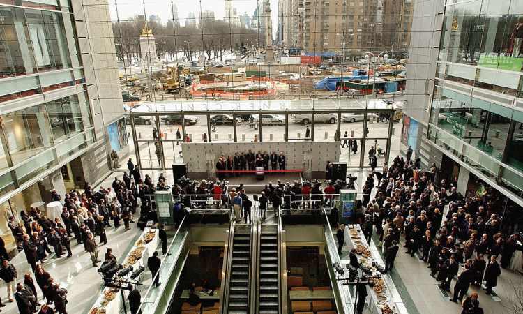 Un grande centro commerciale a New York