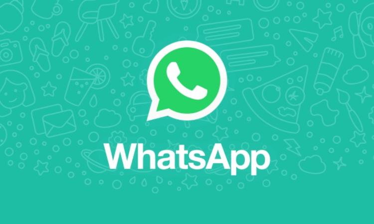Il logo verde di Whatsapp con sfondo celeste