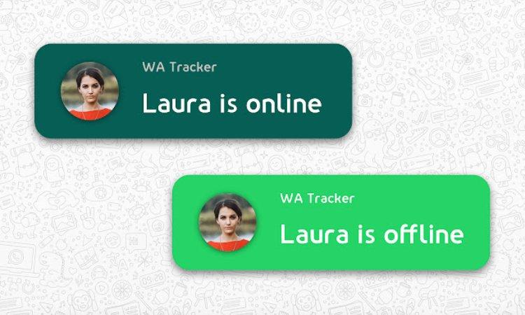 Una persona online e offline su Whatsapp