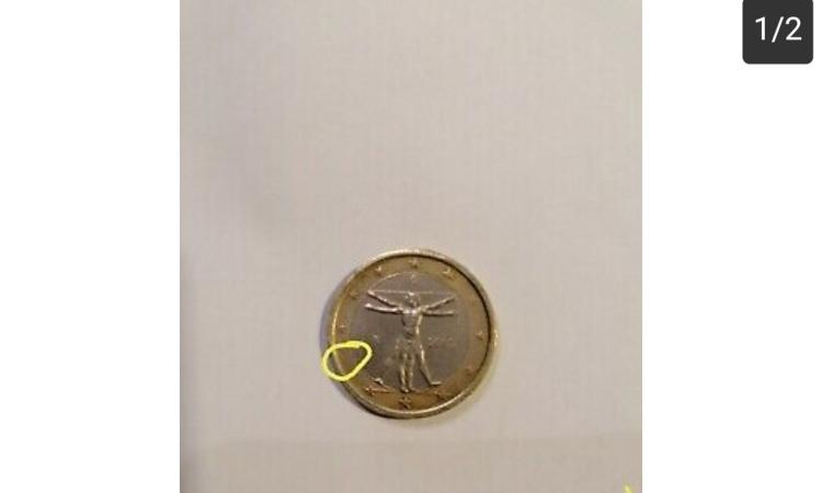 Una moneta da 1 euro rara