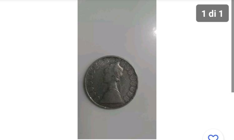 Una moneta da 500 lire molto rara