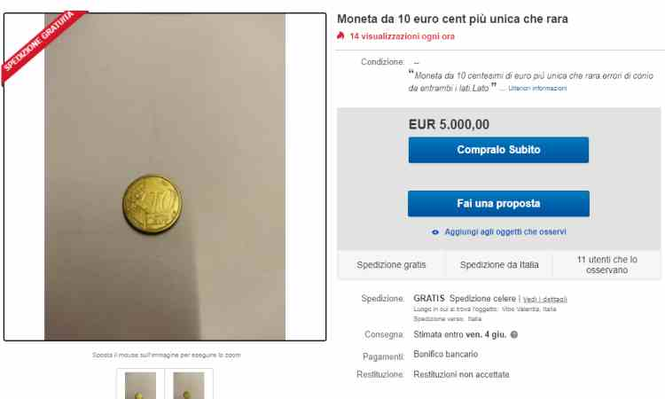 Moneta 10 centesimi