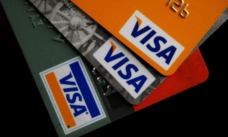 Un po' di carte di credito della Visa