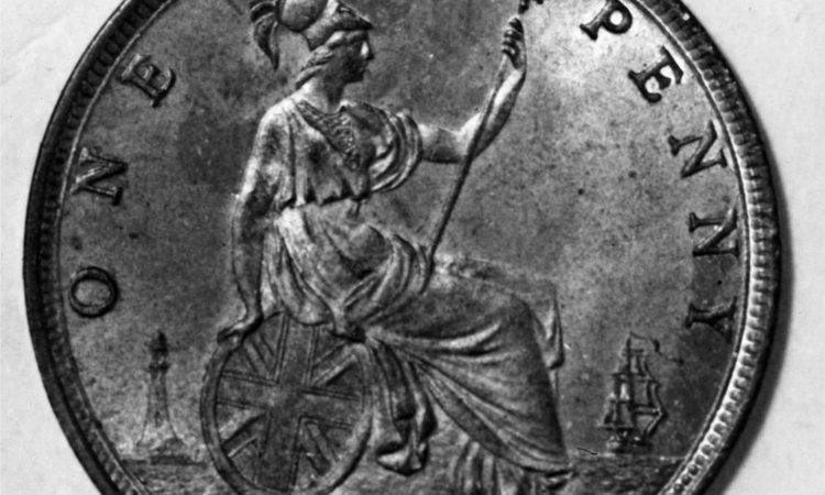 Una moneta da un penny