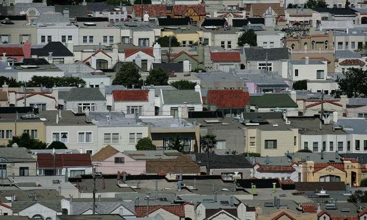 Alcune case viste dall'alto