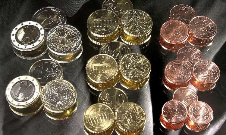 Certi tipi di monete degli euro