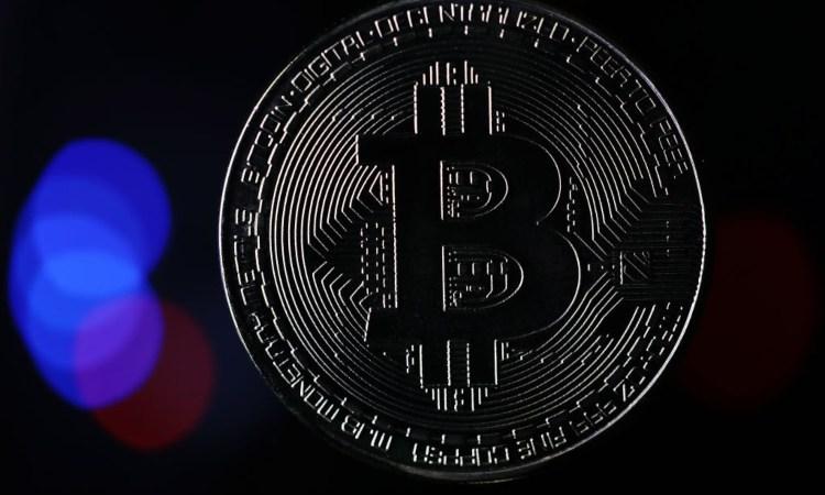 Una moneta della token Bitcoin