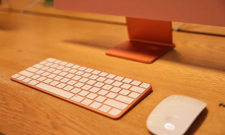 Una tastiera e un mouse prodotti dalla casa madre Apple
