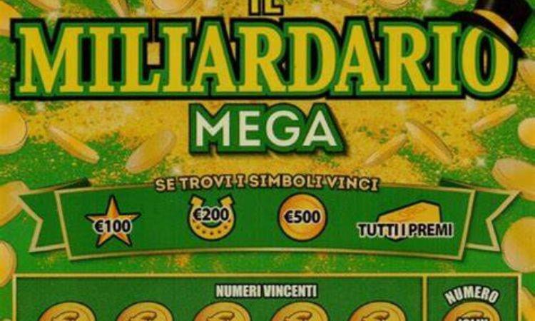 Un tagliando del 'Miliardario mega)
