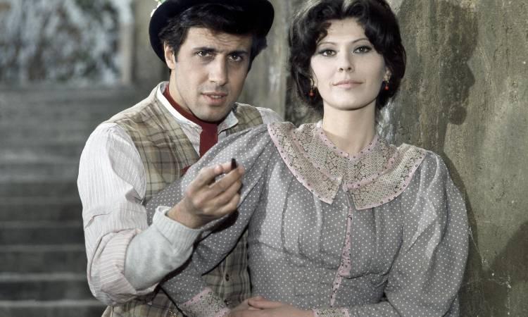 Adriano Celentano e Claudia Mori da giovani