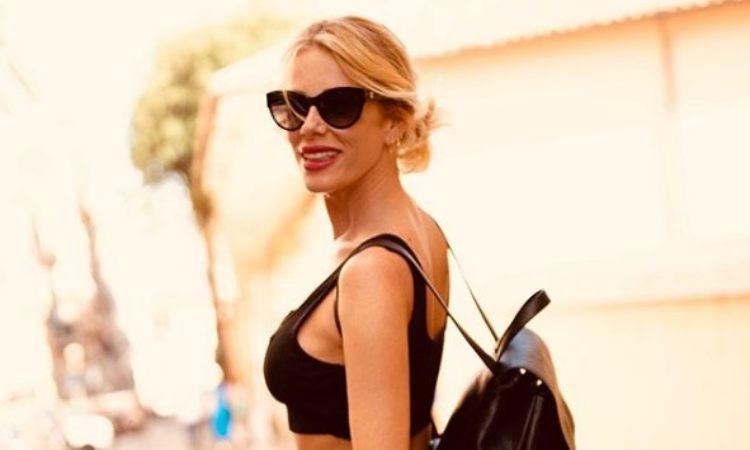 Alessia Marcuzzi occhiali neri