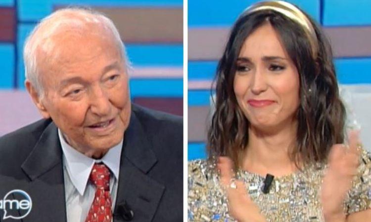 Piero Angela e Caterina Balivo