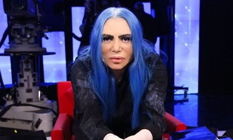 Loredana Bertè capelli blu