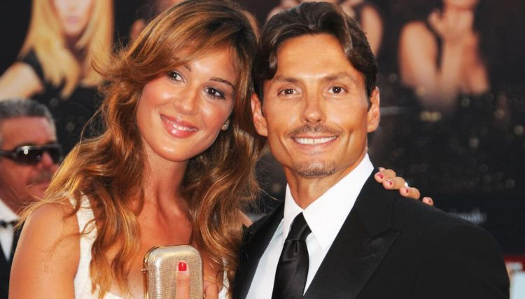 Piersilvio e Silvia Toffanin sorridono