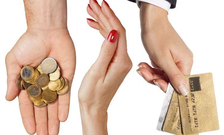 uso di carte per i pagamenti al posto di monete