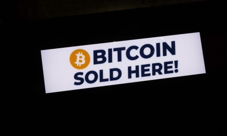 Una scritta relativa alla vendita dei Bitcoin