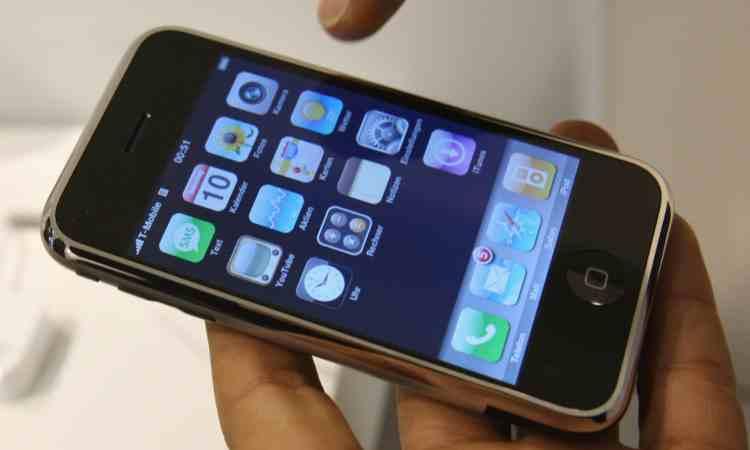 Schermata di un cellulare