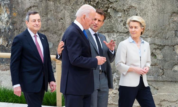 Alcuni esponenti statali durante il G7