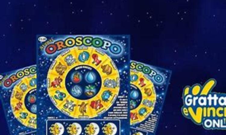 Un bigliatto del gratta e vinci 'Nuovo oroscopo'