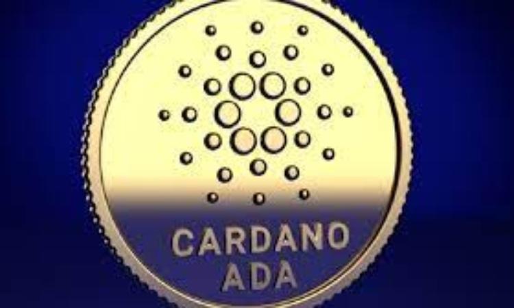La scritta Cardano ADA su una moneta