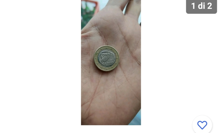 Una rara moneta da 1 euro con una stima alta