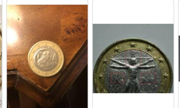 Due rare monete da 1 euro su Ebay