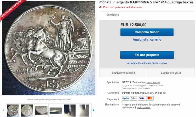 Moneta da cinque lire