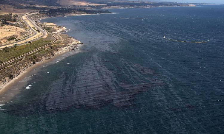 Una zona costiera vista dall'alto