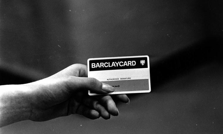 Una vecchia carta di credito della Barclay's