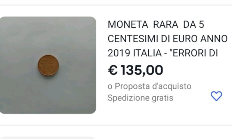 Una delle tante rare monete da 5 centesimi