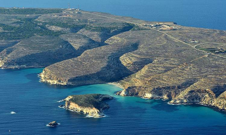 L'isola di Lampedusa vista dall'allto