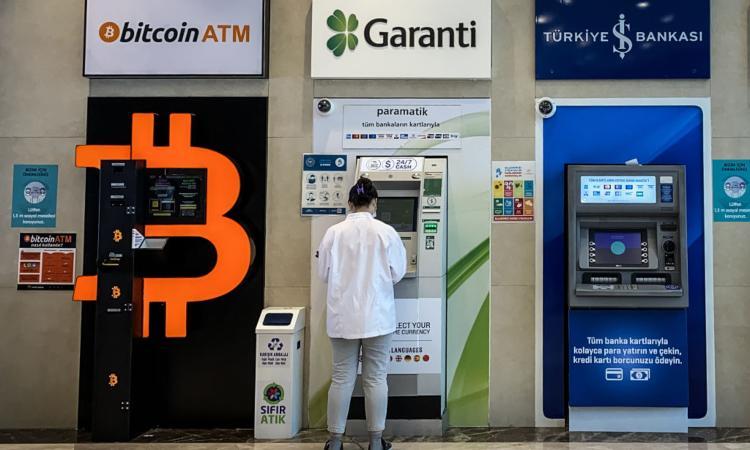 Una cassa automatica dei Bitcoin