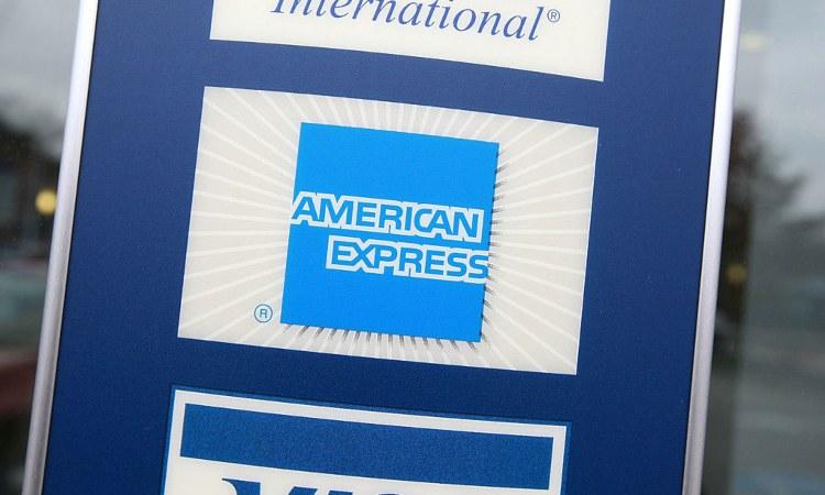 Una scritta inerente all'American Express