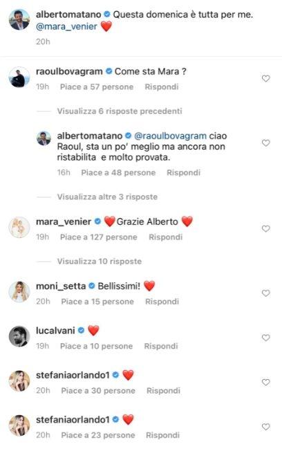 Post Instagram di Alberto Matano