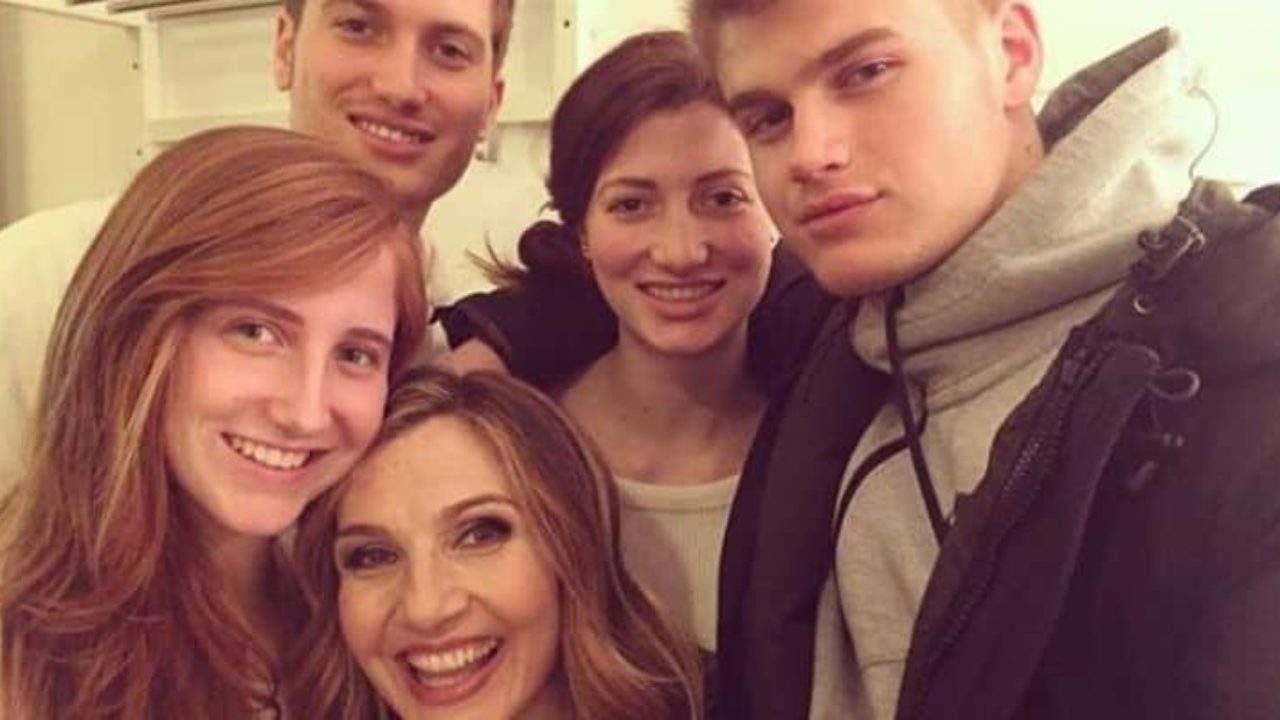 Lorella Cuccarini e i suoi figli
