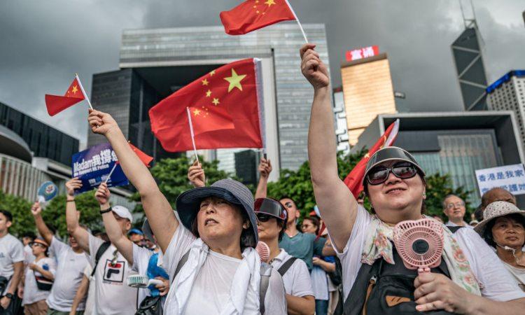 Un po' di persone ad Hong Kong per una protesta sull'estradizione