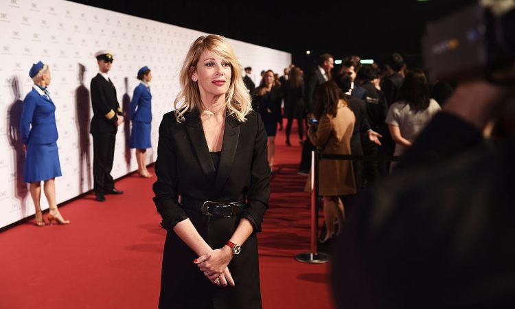 Alessia Marcuzzi in posa ad un Gala
