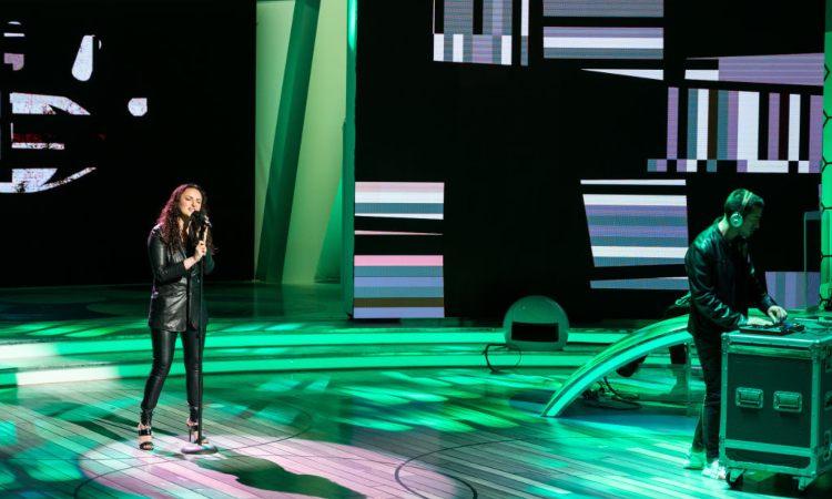 La cantante Arisa ospite da 'Quelli che il calcio'