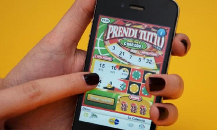 Il modello di gratta e vinci 'Prendi tutto' giocato online