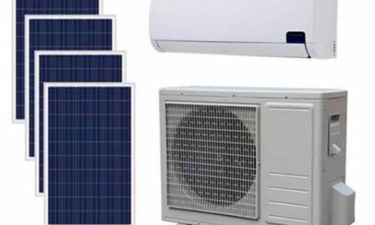 Alcuni pannelli solari per condizionatori d'aria