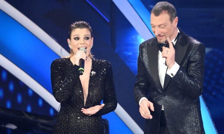 Emma e Amadeus a Sanremo