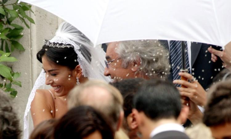 La coppia Briatore- Gregoraci durante il loro matrimonio