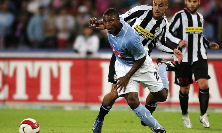 Almiron durante il match tra Napoli e Juventus