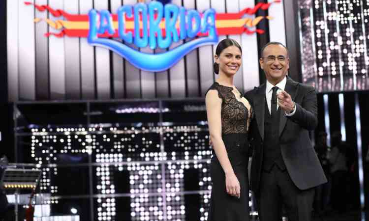 Carlo Conti e Ludovica Caramis