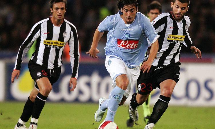 Un'immagine del match del San Paolo fra Napoli e Juventus