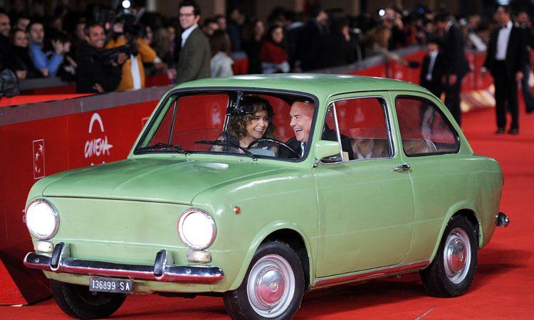 Zingaretti in macchina sul red carpet di Roma