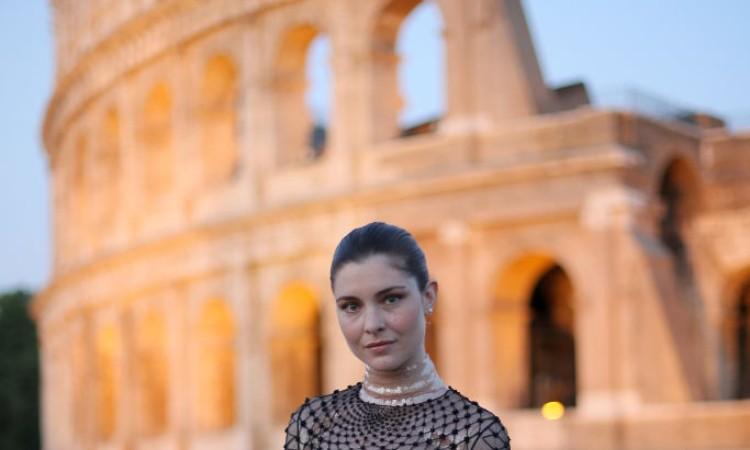 Una fotografia di Vittoria Puccini a Roma